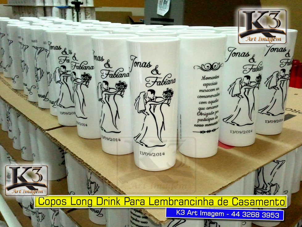 Copos de acrílico personalizados em Maringá - K3 Art Imagem - 44 3268 3953